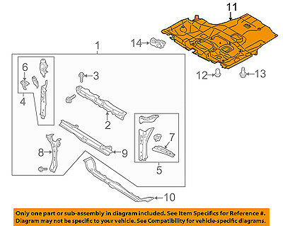 SUBARU OEM 15-16 Legacy Under Radiator//Engine-Cover Splash Shield 56410AL01A