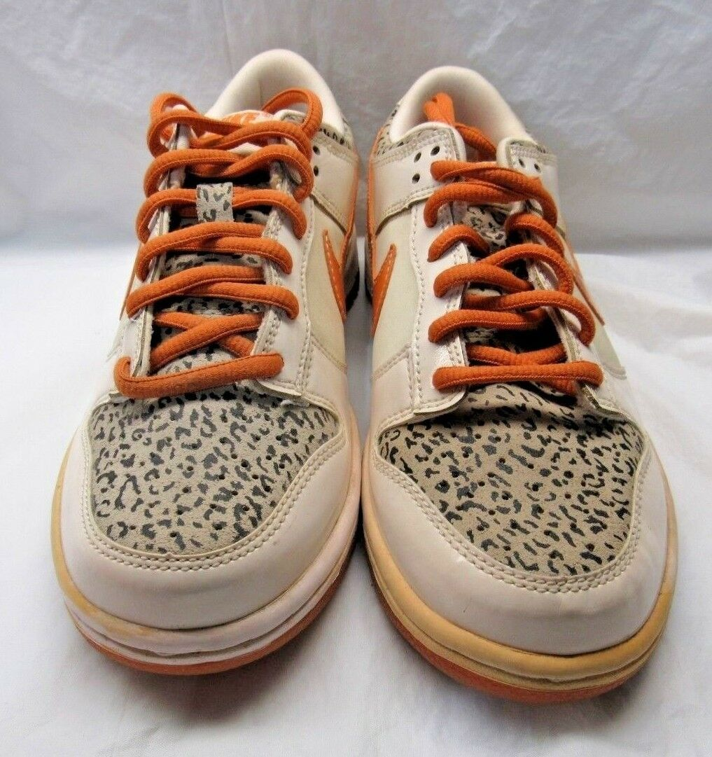NIKE 309601-181 DUNK LOW Orange White Camo Size 4.5Y