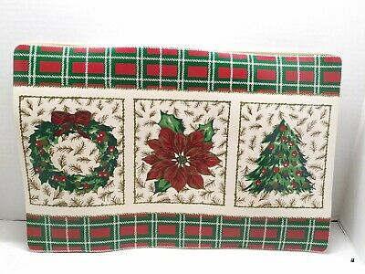 """4 Glitter Fabric Table Placemats for Christmas and Wedding 10/"""" x 18/"""" 250x450mm"""