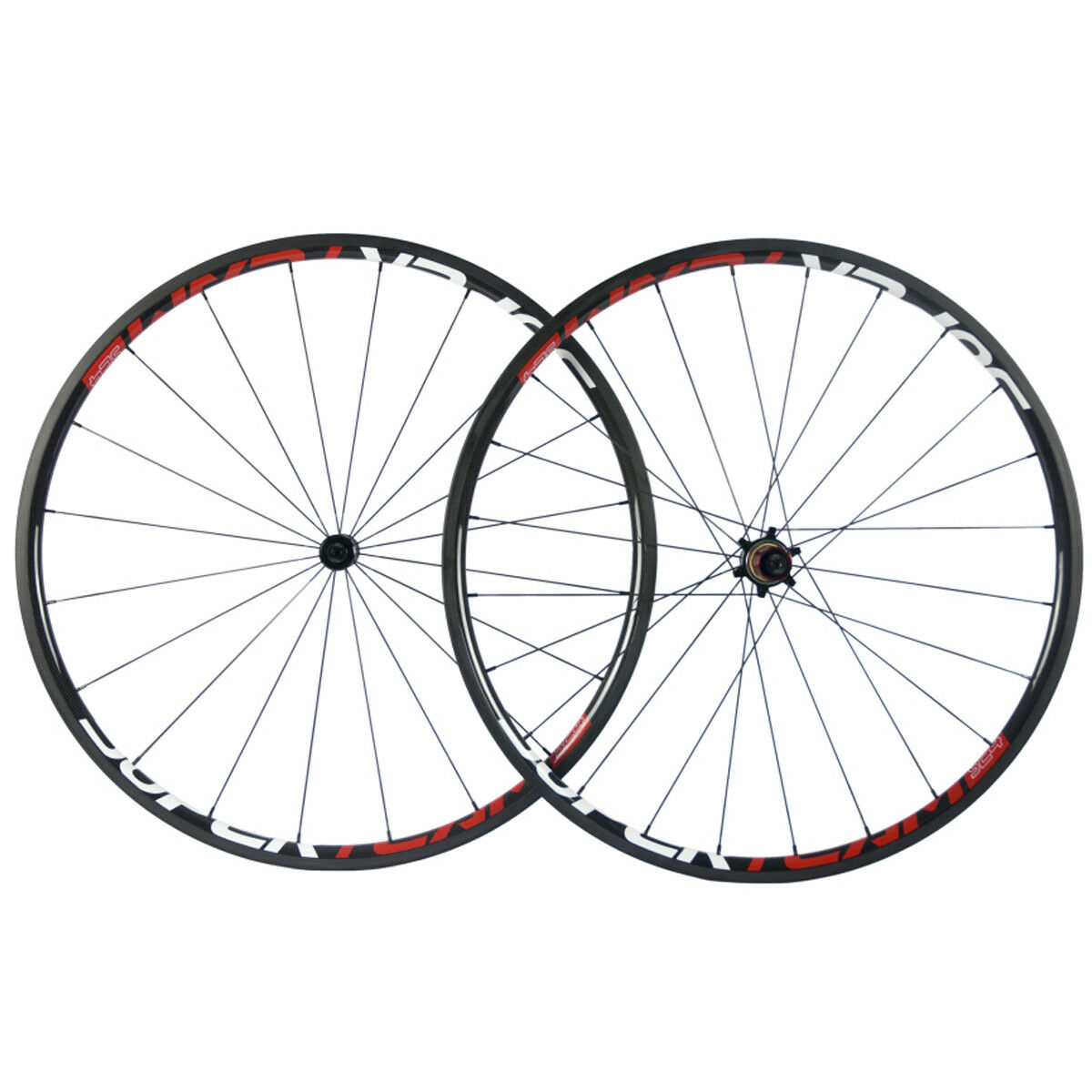 Light 24mm Depth 23mm Width Carbon Wheels Road Bike Superteam Climbing Wheelset