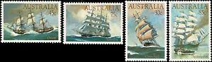 1984-AUSTRALIA-Clipper-Ships-4-MNH