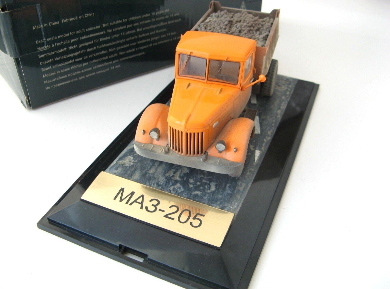 МАЗ-205 самосвал (оранжевый) (оранжевый) (оранжевый)    MAZ-205 Nostalgie SSM 1 43 exclusive L.E. 09b3b9