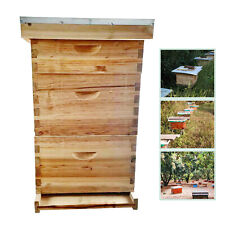 3 Layer 10 Frame Wax Coated Bee House Beekeeping Kit Complete Honey Bee House