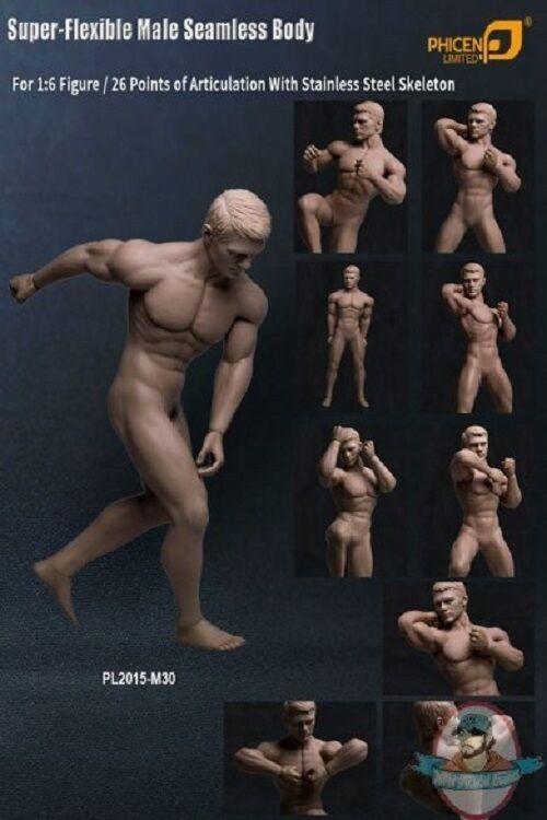 1 6 Cuerpo Sin costuras Masculino En Acero Inoxidable Esqueleto Bronceado PL2015-30