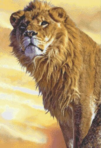 YOUNG LION # 2 COUNTED CROSS STITCH CHART