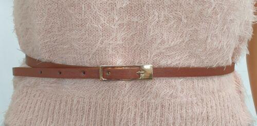 UK Stock Super Skinny Faux Leather Belt B1185
