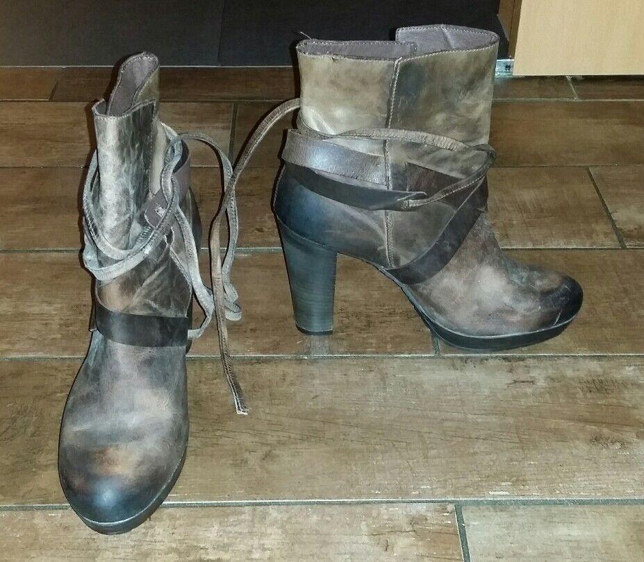 Stiefelette Damen, braun, Leder,neu Günstige und gute Schuhe