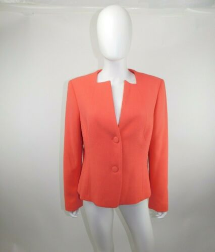 Lafayette 148 Coral14 Square Neck Virgin Wool Two