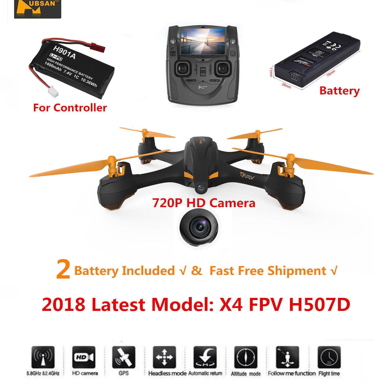 Hubsan H507D X4 5.8G FPV RC Quadcopter W  720P CAM Headless Altitude Mode GPS US