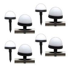 8er Set LED Solar Kugel Leuchte | Solarlampe Balkon Geländer | Solarkugel