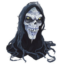 Adult Corpse Half Mask Skeleton Grim Reaper Halloween Fancy Dress Accessory