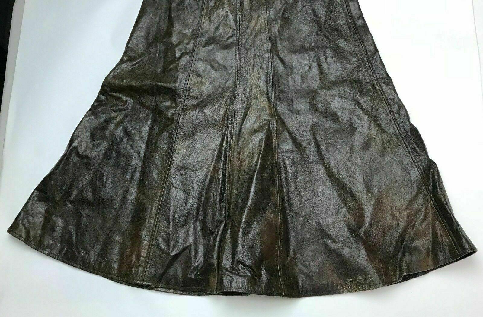 Vintage 70's-80's Brown Genuine Leather Umbrella … - image 2