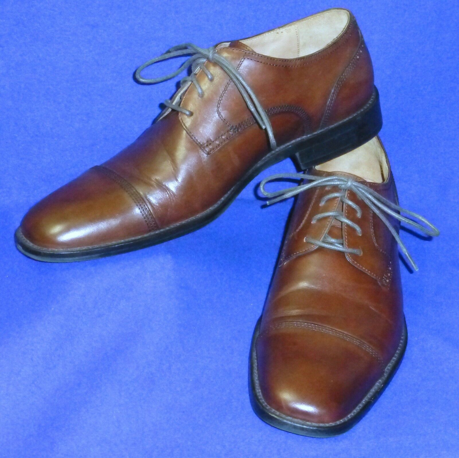 MINTY 8.5 M JOHNSTON TOE MURPHY KNOWLAND BROWN CAP TOE JOHNSTON MENS SHOES OXFORD 20-173 089f30