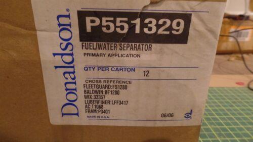 33357 3357 GENUINE DONALDSON FUEL FILTER ASSEMBLY P551329 P 551329 MANN WK9252