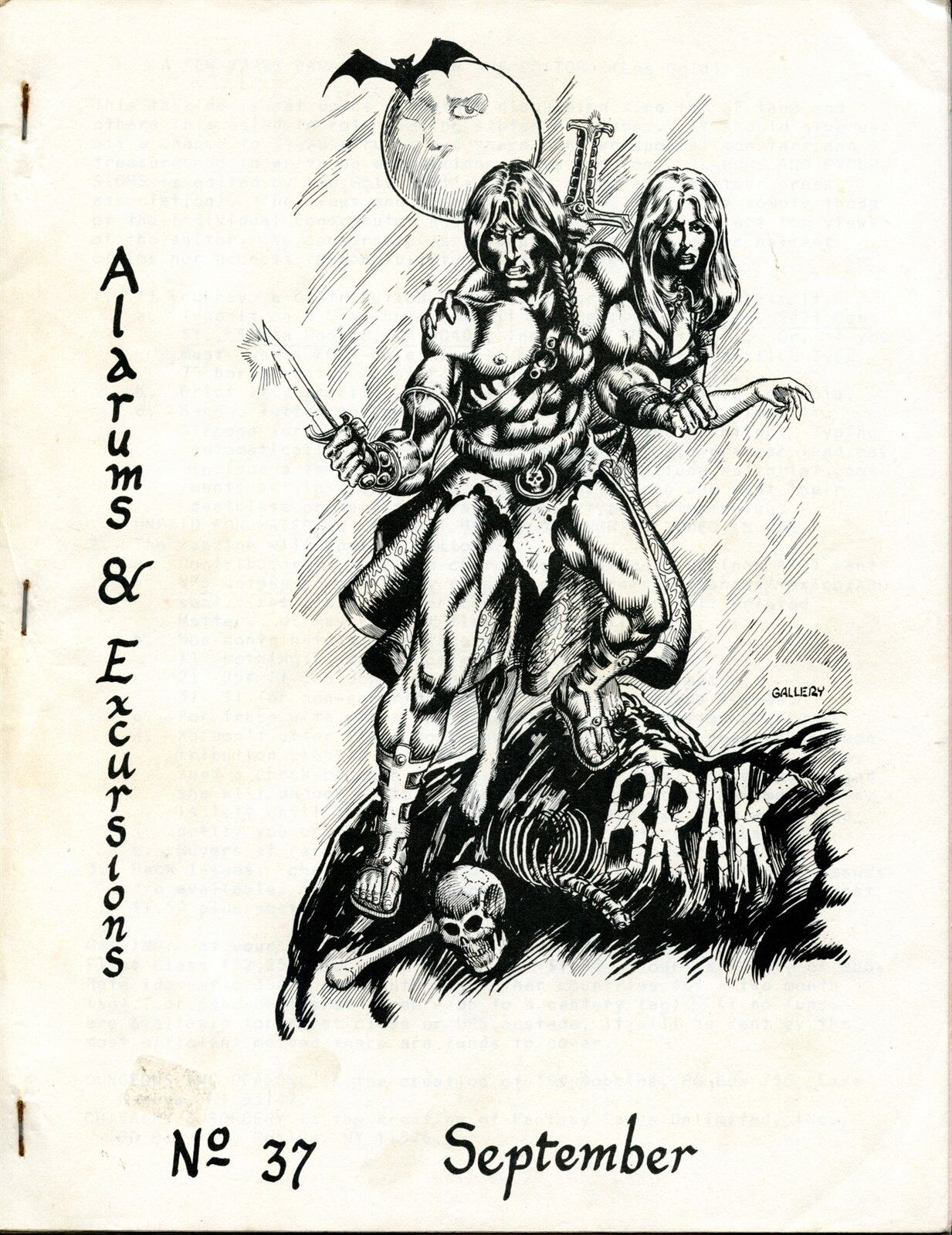 ALARUMS & EXCURSIONS SEPT EXC  Dungeons & Dragons RPG MAGAZINE