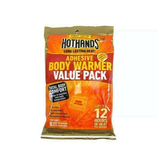 8-Pack each Pack total of 40 HotHands Body Warmer with Adhesive Details about  /Lot of 5
