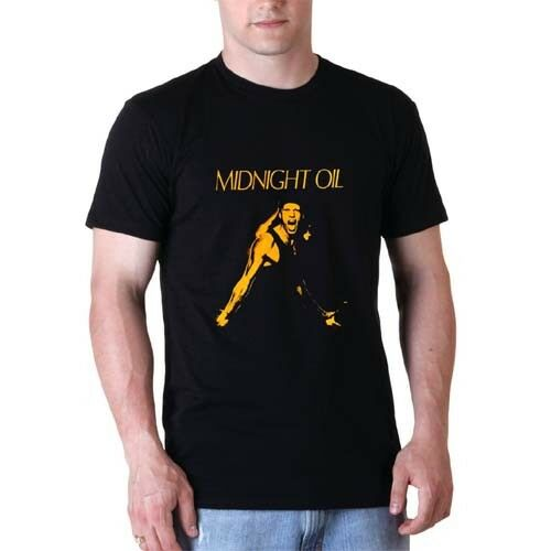Midnight Oil Tour Tshirt Black Cotton New Men/'s T-Shirt Tee Size S to 3XL