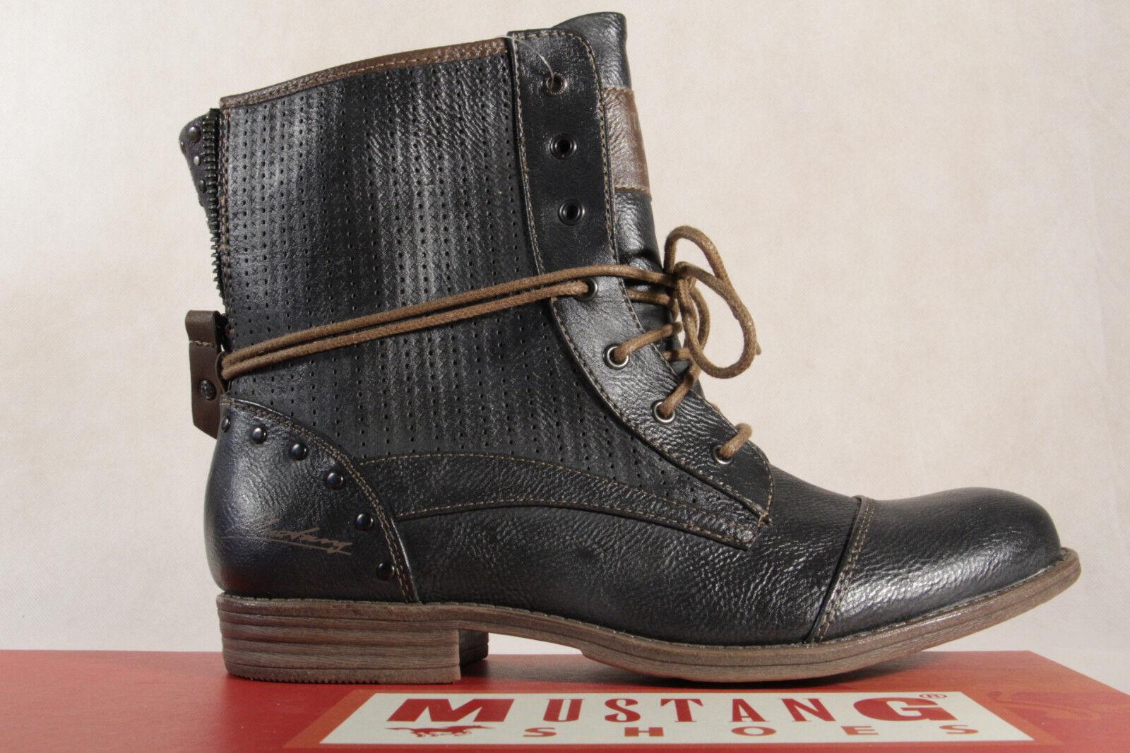 Mustang Botines botas botas Botines de Cordón botas Grafit Nuevo a8623d