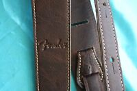 Fender 2 Inch Wide Artisan Leather Strap, Brown, Mpn 0990621050