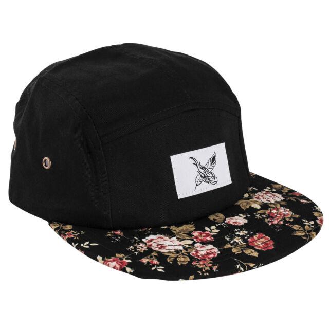 Blackskies Black Beauty 5-panel Cap Hat Roses Five Hat Roses Flowers  Baseball a721dd336c9