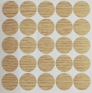 15 X 18 Mm Chêne Autocollante Vis Trou Cam Cover Cap Meubles Cuisine Chambre À Coucher-afficher Le Titre D'origine Ph7tmisw-07183247-701715377