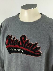 Ohio State Buckeyes Crewneck Sweatshirt 2xl Gray Ncaa College Sewn