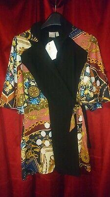 Affidabile Asos Design Sciarpa Stampa Tutina Cape Fit & Flare Batwing Kimono Nero Taglia 12-mostra Il Titolo Originale Aroma Fragrante