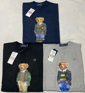 Brand-New-Mens-Ralph-Lauren-Teddy-Bear-Sweatshirt-039-s