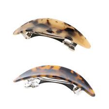 Prettyia 2Pcs French Acetate Hair Clip Automatic Barrette Women Hair Hairpin