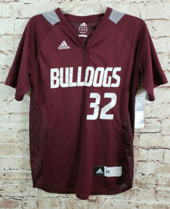 Adidas-Climalite-Mississippi-State-Bulldogs-32-LaMotta-Jersey-Boys-SZ-Medium-NEW