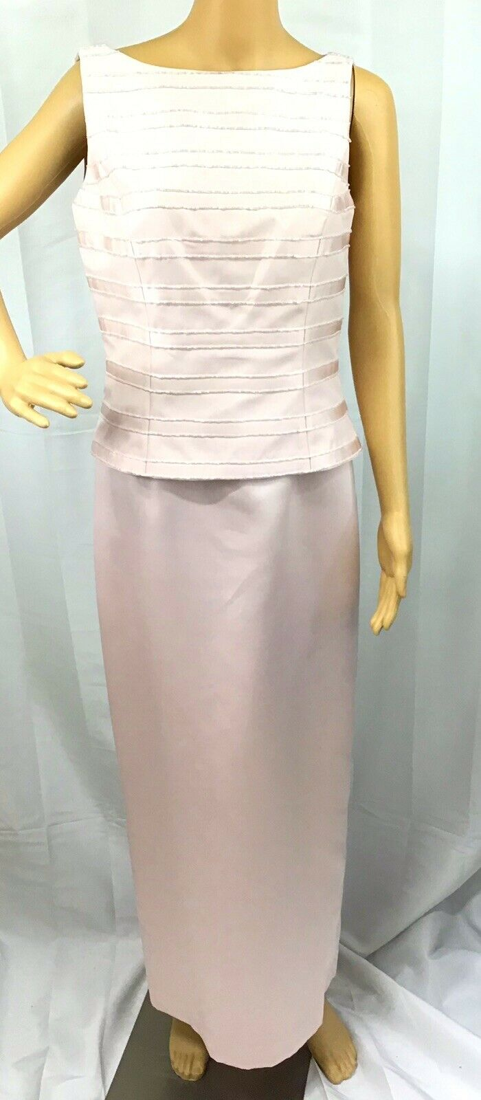 VINTAGE COUTURE MARIE ST. CLAIRE PINK BEADED TRIM… - image 3