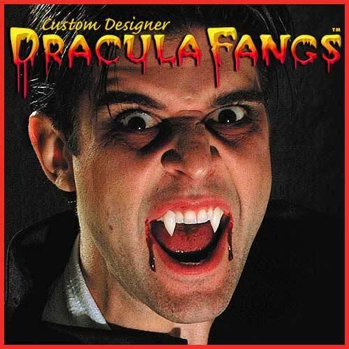 COFFIN ADULT SIZE DRACULA FANGS CUSTOM DESIGNER WEREWOLF VAMPIRE FANGS TEETH