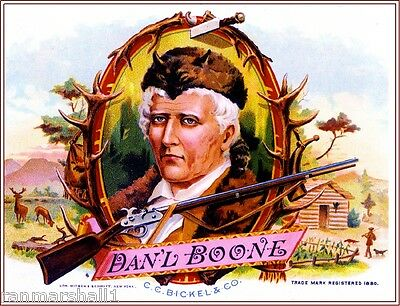 Generals Grant and Lee Civil War Smoke Vintage Cigar Tobacco Box Label Print