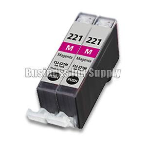 2-MAGENTA-CLI-221-Canon-CLI-221M-CLI-221-M-CLI-221-CLI221-Ink-Cartridge-NEW-CHIP