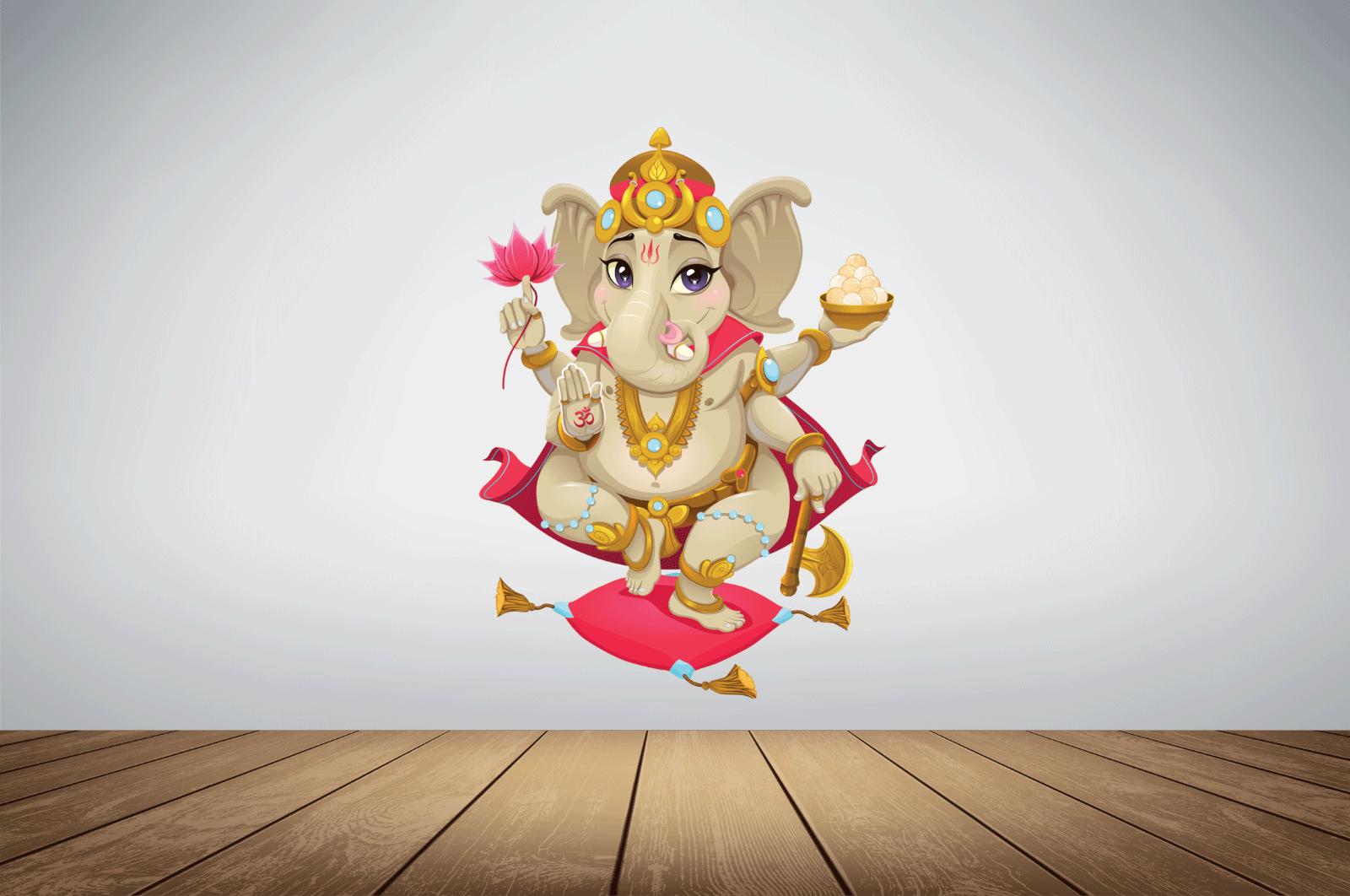 Cute Ganesh Hindu God Vinyl Decal