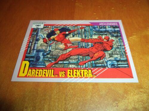 Elektra 95 1991 Marvel Universe Series 2 Impel Base Trad Card Daredevil vs