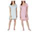 SALE-Jane-And-Bleecker-Women-039-s-2-Pack-Short-Sleeve-Sleep-Shirt-Pajama-PJ-A31 thumbnail 9