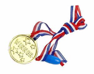 6-Oro-ganadores-Medallas-Pinata-Juguete-loot-party-Bolsa-Rellenos-wedding-kids