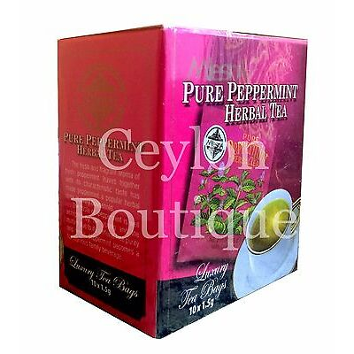 Mlesna Pure Peppermint Herbal Tea  - Ceylon Tea in Luxury Tea Bags