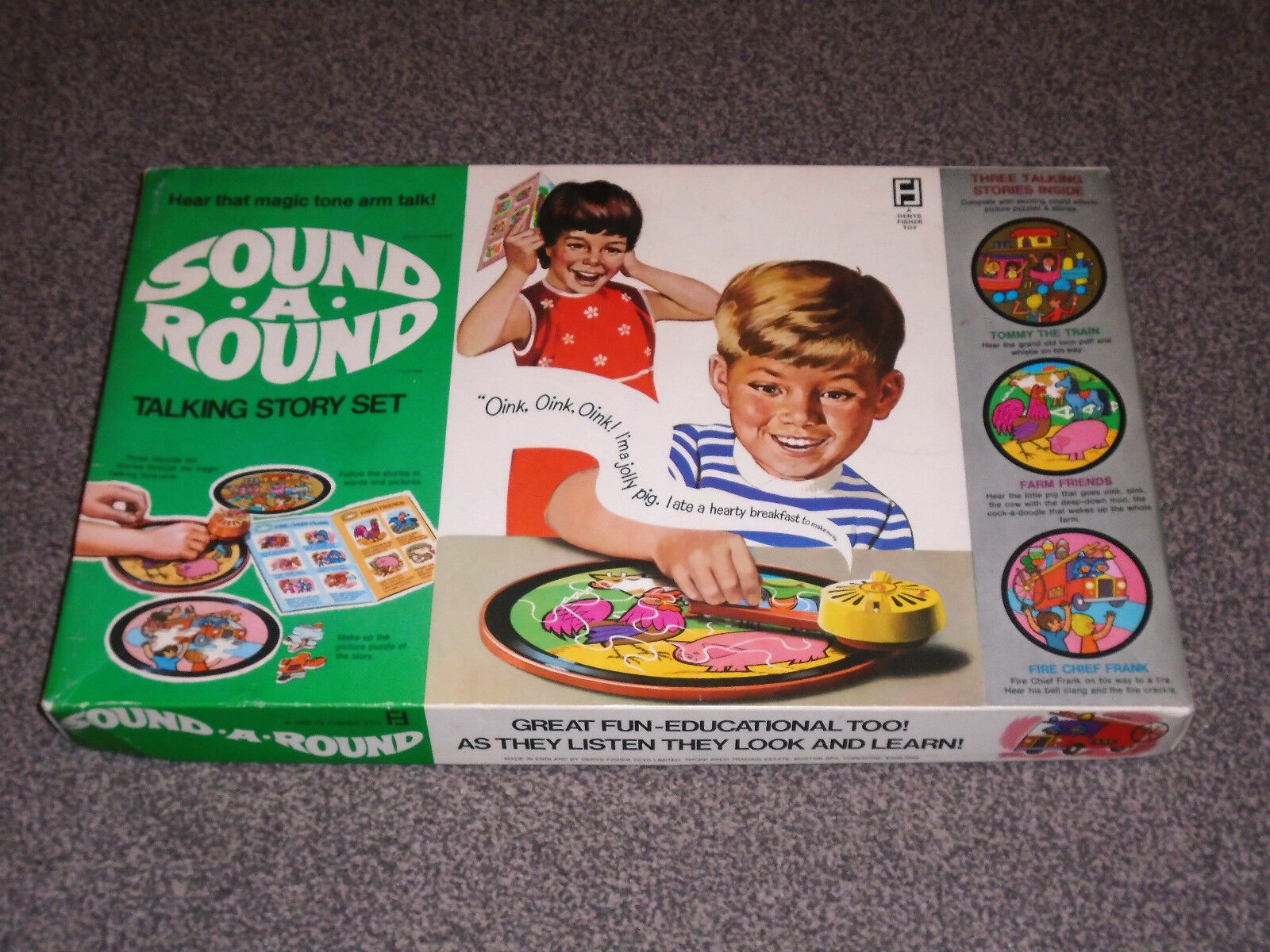 VINTAGE DENYS FISHER   SOUND A ROUND - TALKING STORY SET - IN VGC (FREE UK P&P)