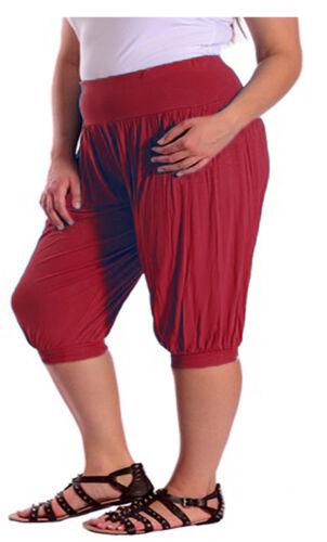 Le donne 3//4 Hareem Ali Baba Pantaloni Larghi Baggy Pantaloni Donna Crop Pantaloncini Leggings