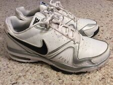 NIKE AIR MAX EDGE 10+SL WHITE METALLIC SILVER MEN SHOES SIZE 9 US / 8 UK - Used