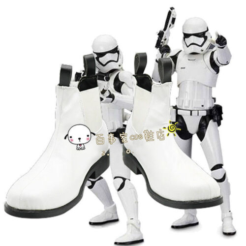 Star Wars The Force Awakens Stormtrooper White soldier Cosplay Boots Shoes HH.06