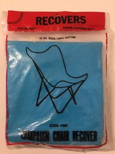 Vintage-60er-Jahre-Wasserblau-Schmetterling-Sessel-Leinen-Bezug-Neu-Mcm-Kampagne