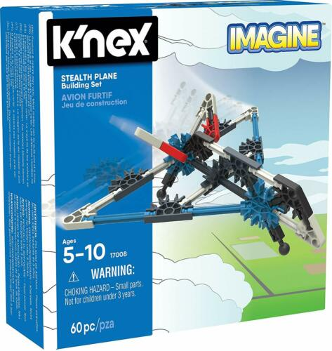 K/'NEX Stealth Plane Building Set 60 Pieces For Ages 5 Construction Education