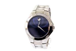 Men's Movado 0606380 LUNO SPORT Stainless Steel Bracelet Blue Dial Watch