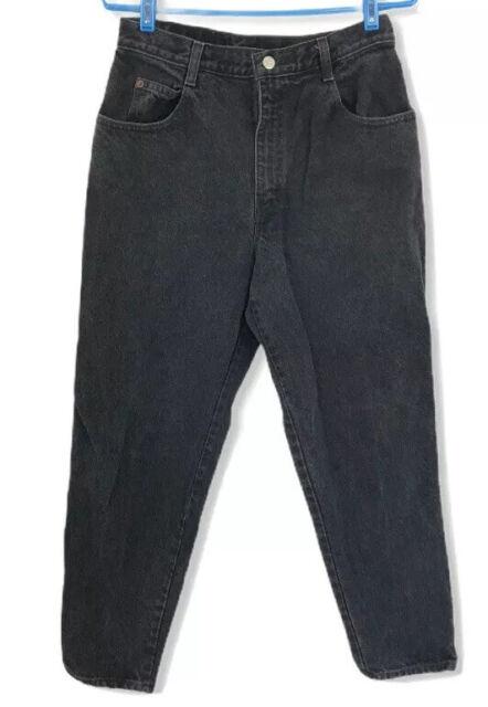 Vintage 90s Gitano Womens Mom Jeans High Rise Size 12 28x28 Tapered Leg Black