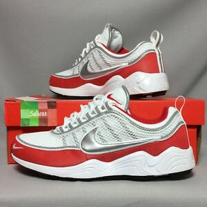 vente chaude en ligne 08b46 8dff6 Details about Nike Air Zoom Spiridon '16 UK8 926955-102 EUR42.5 US9 White  Red Silver 16 og
