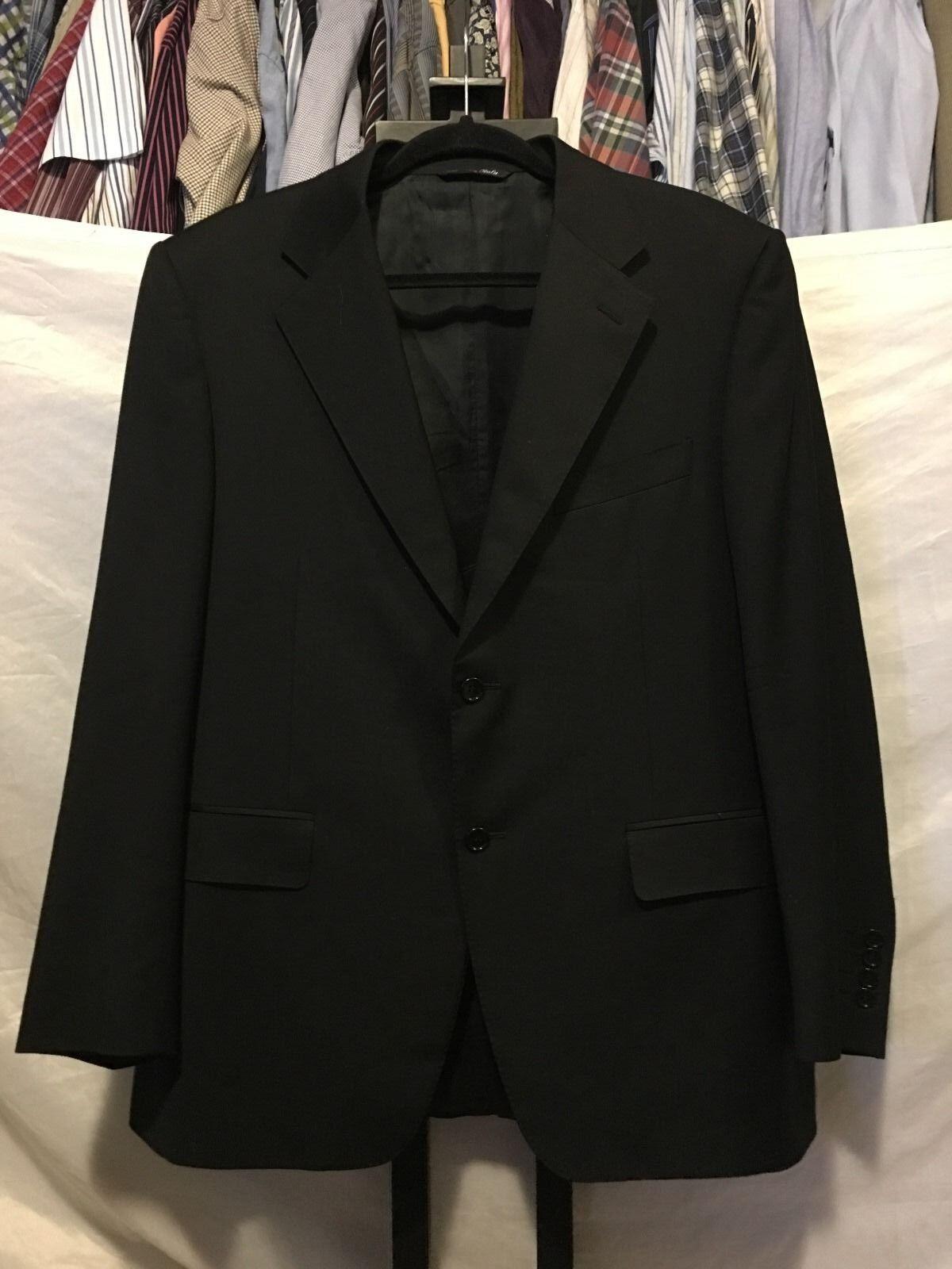 Canali Dark Grau 2 Button 2 Piece Vented Wool Suit  44R (52R) 33 X 30