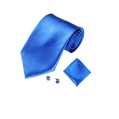 3PCS Solid Plain Classic Skinny 100/% New Silk Woven Slim Necktie Men/'s Tie Set